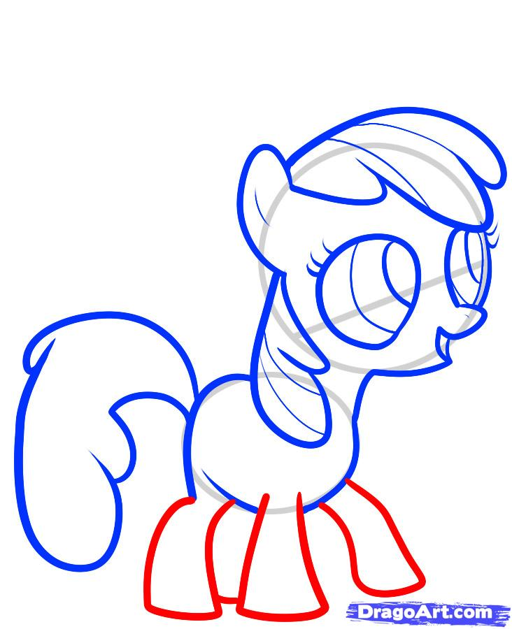 Drawn my little pony apple blue Bloom My apple step apple