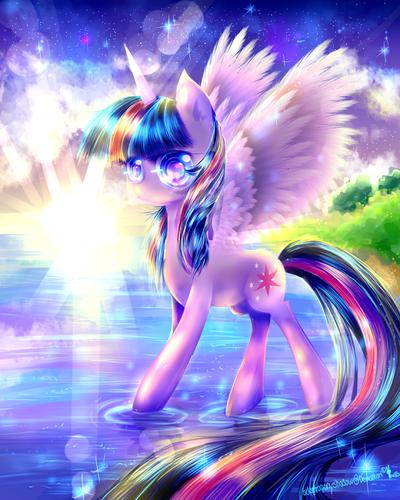 Drawn my little pony awesome Friendship Fan pics sparkle friendship
