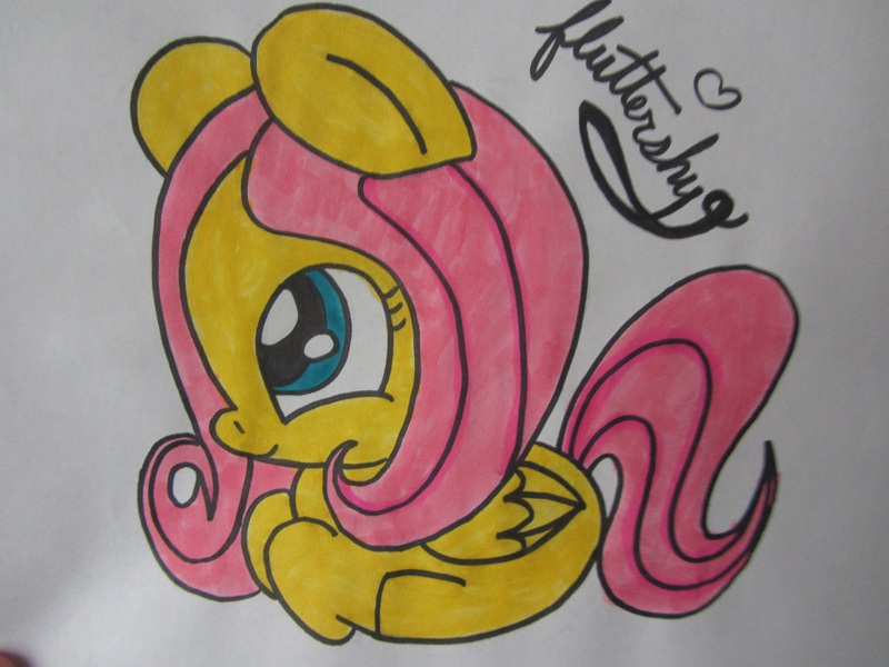 Drawn my little pony baby Little Baby Pony fluttershy baby