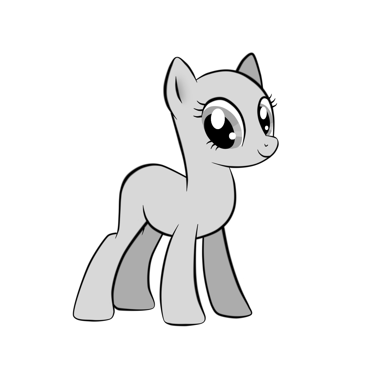 Drawn my little pony base earth Female pony by base Earth