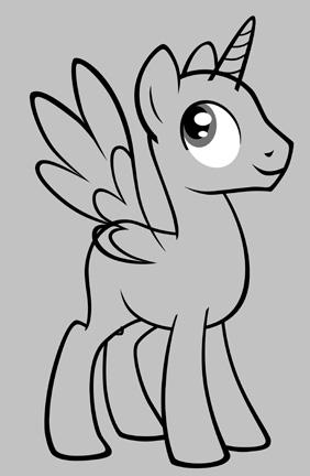 Drawn my little pony base male Little My  LissyStrata My