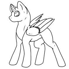 Drawn my little pony base male