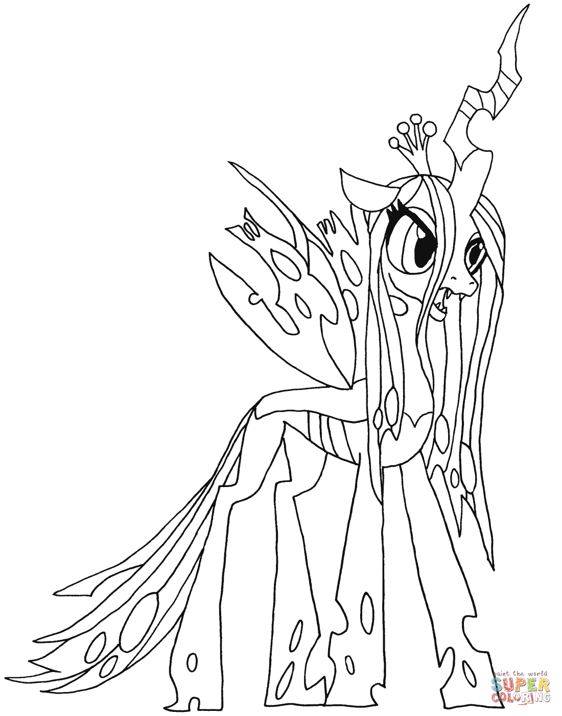 My Little Pony clipart coloring book Pony Printable Queen My Chrysalis