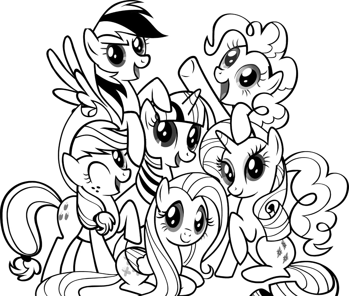 Drawn pony coloring book My  Photos Pony Little