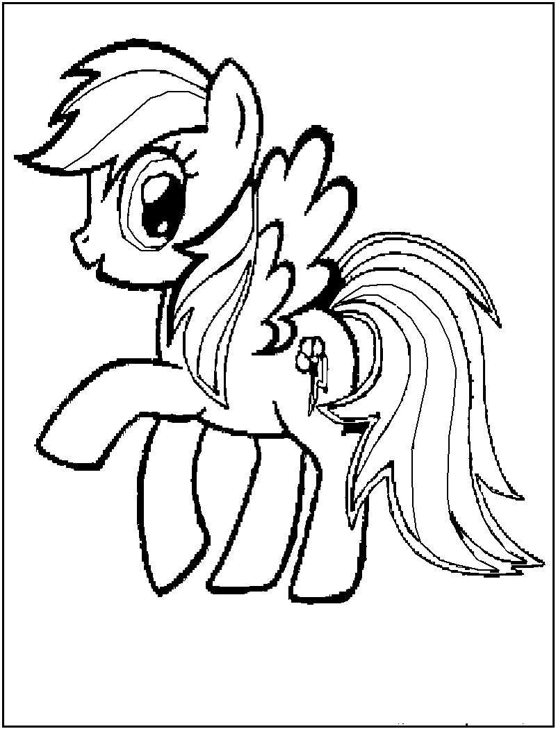 Drawn my little pony black and white Baby Free My Little Pages