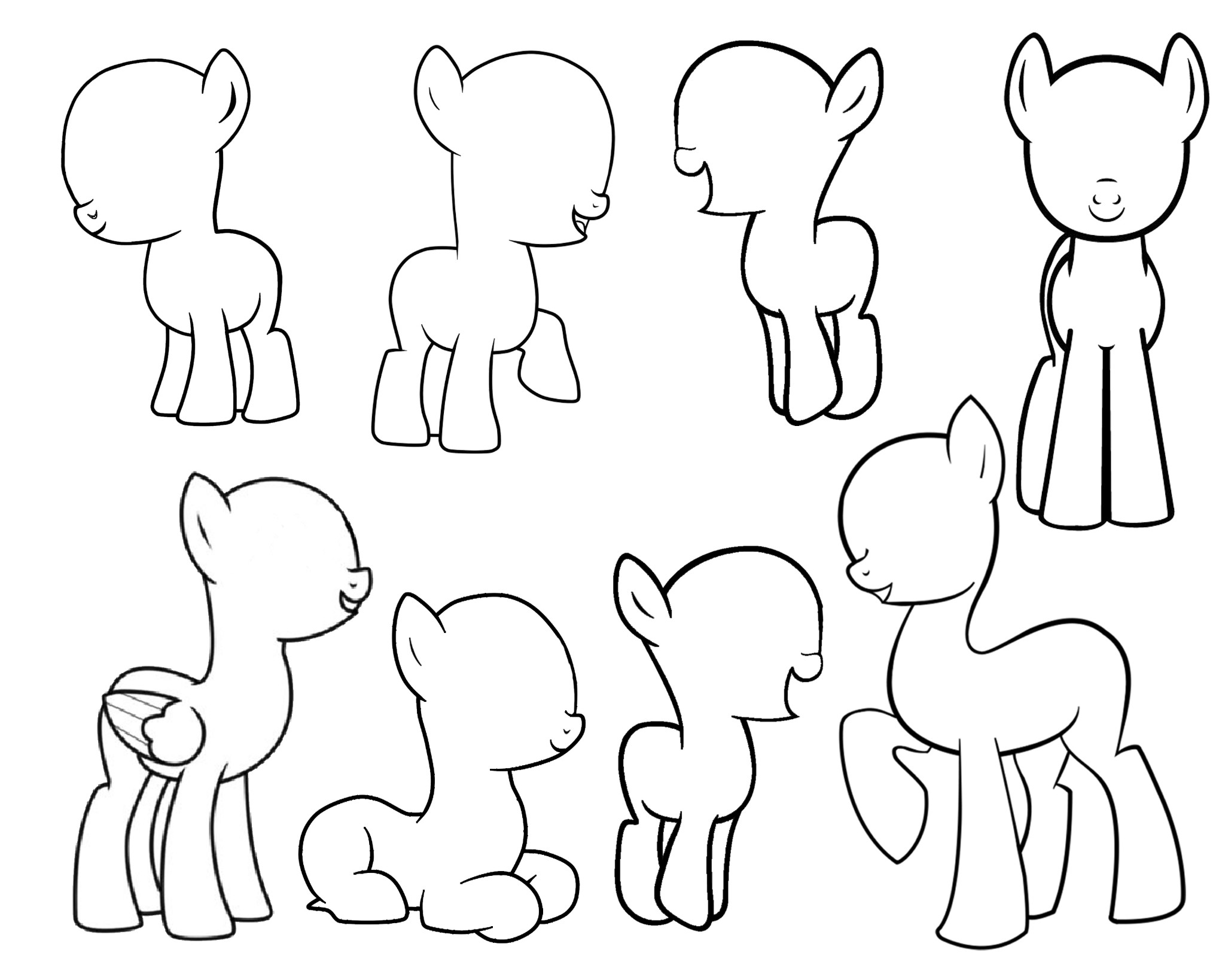 Drawn my little pony blank Own for pony pony own