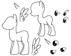 Drawn my little pony blank My outlines little  pony