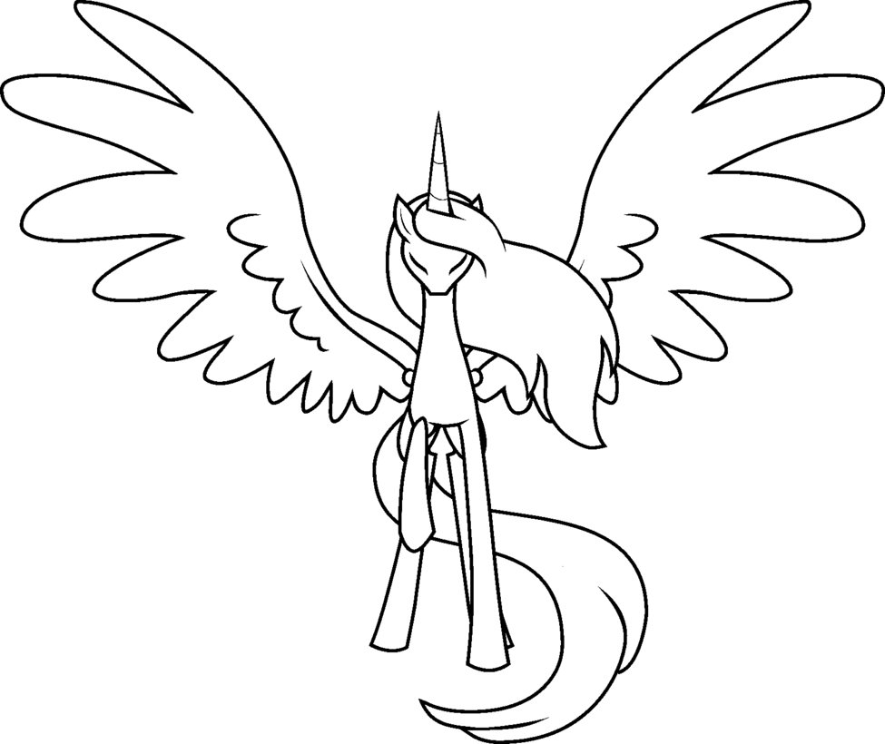Drawn my little pony blank Base Alicorn deviantART deviantART MLP