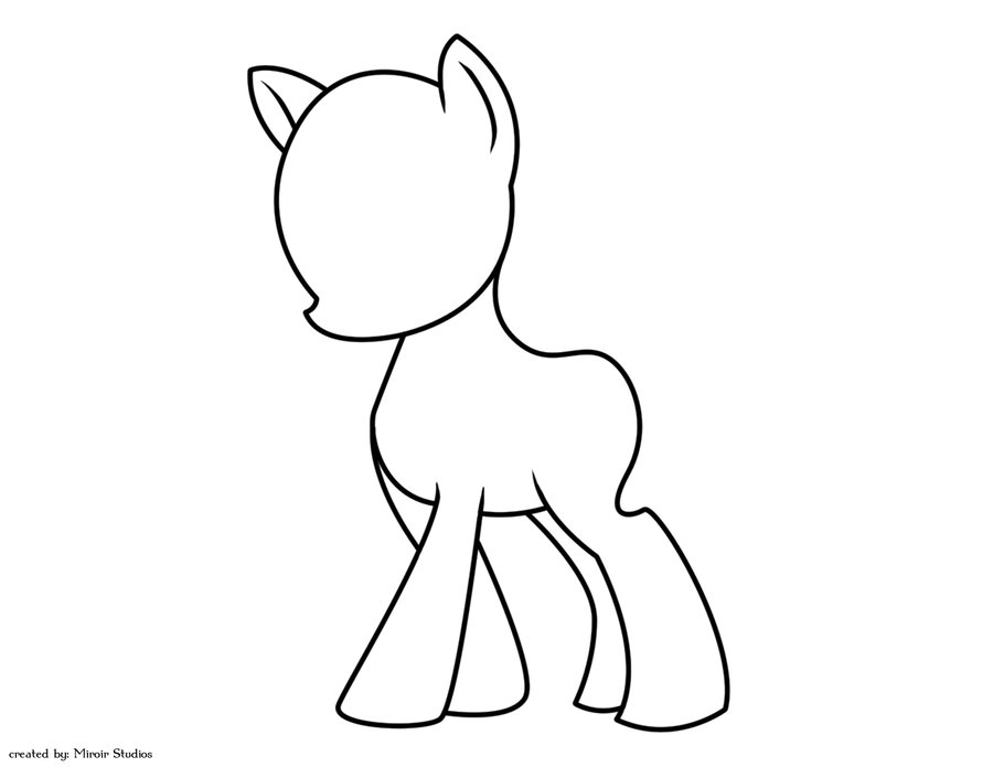 Drawn my little pony blank On Lineart my deviantART deviantART