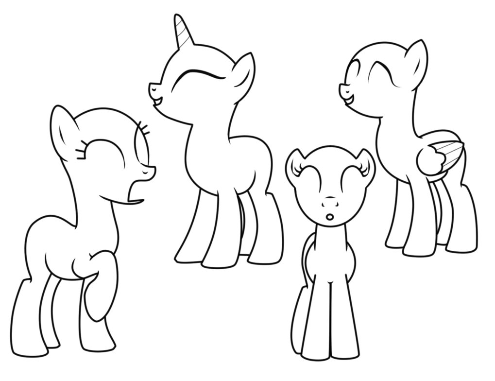 Drawn my little pony blank Little template pony pony my