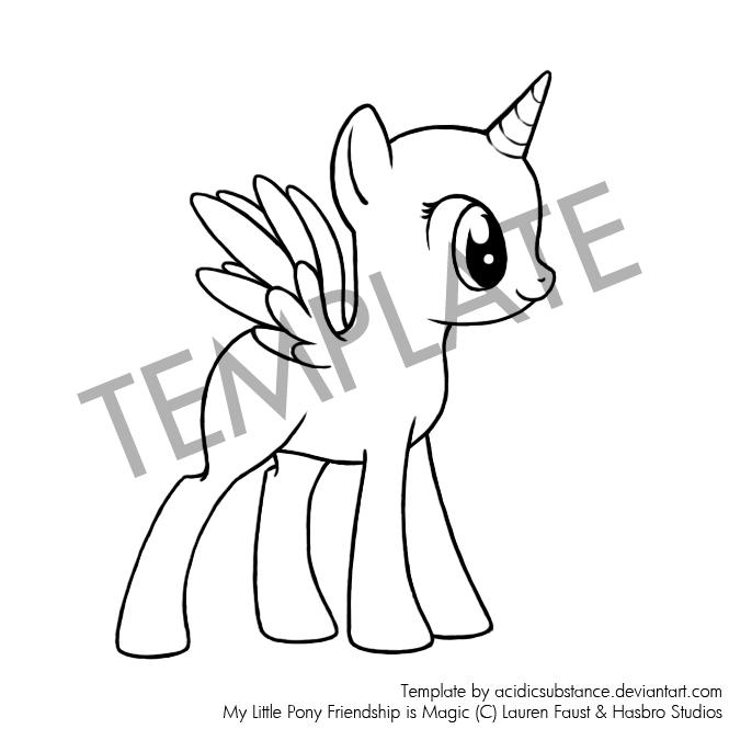 Drawn my little pony blank AcidicSubstance FiM My DeviantArt Pony