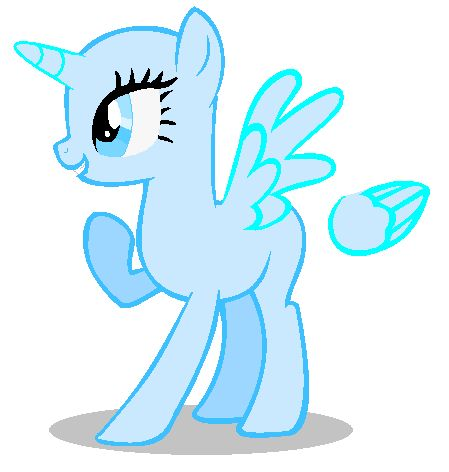 Drawn my little pony blank My and pony little little