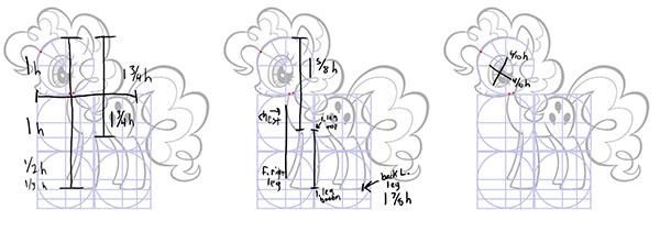 Drawn my little pony body I Art The measurements (