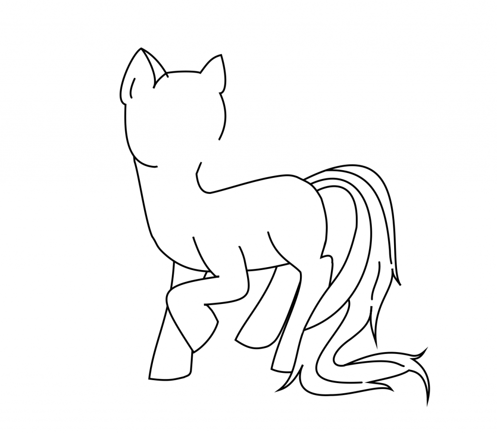 Drawn my little pony body How Little Little My Outline