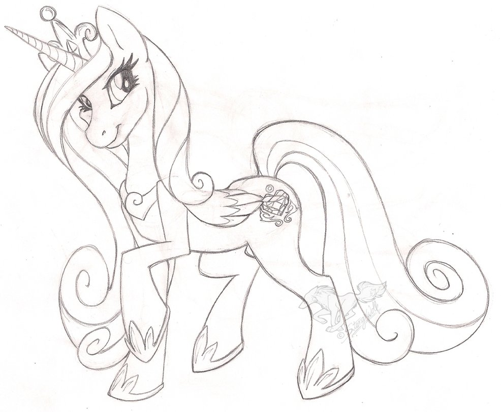 Drawn my little pony cadence By StangWolf StangWolf on Cadence