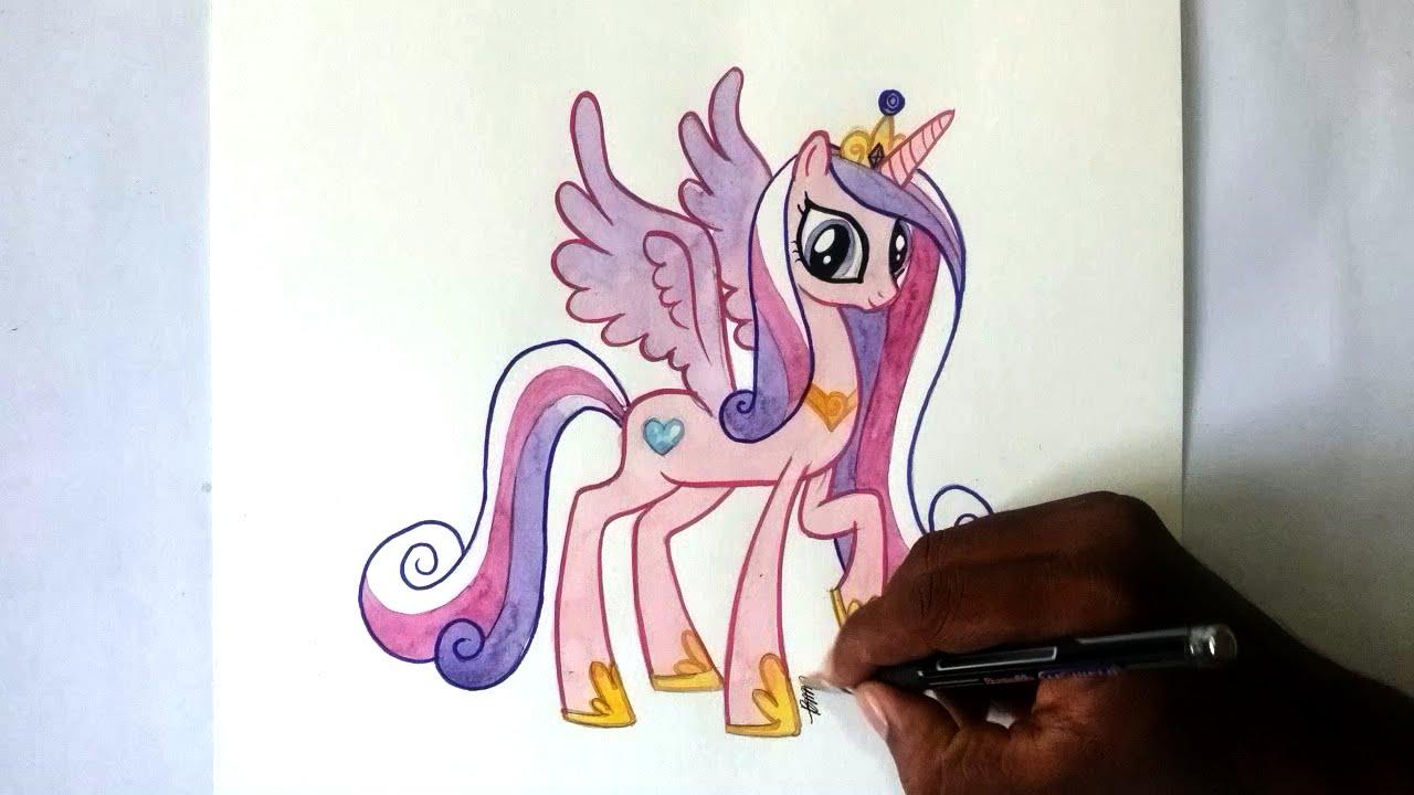 Drawn princess paint Pony pony Speed Alicorn pony