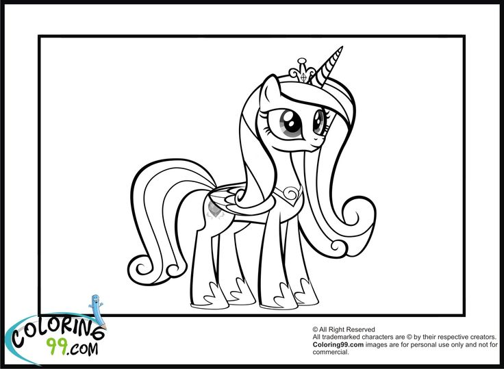 Drawn my little pony cadence Coloring coloring Pages Coloring99 pony