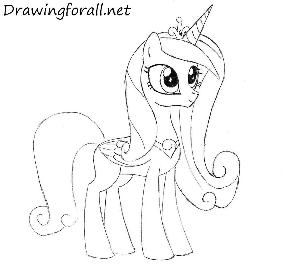 Drawn my little pony cadence Pony Cadence How to to