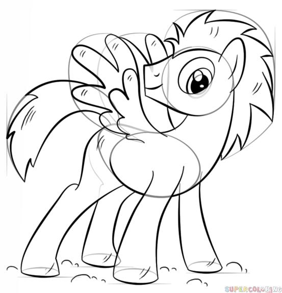 Drawn my little pony cartoon Step tutorials Pony Contour to
