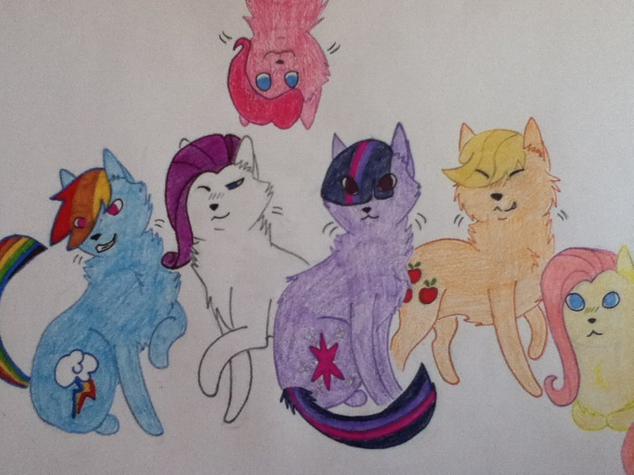 Drawn my little pony cat Little as · Cat Ponies