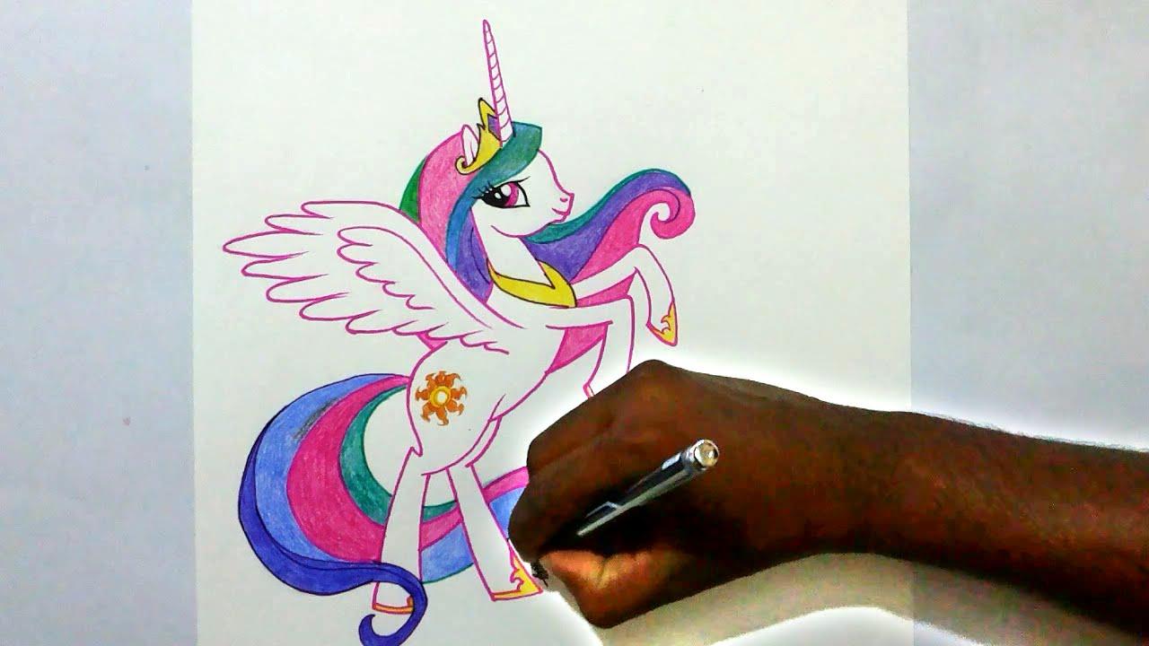 Drawn my little pony celestia YouTube pony little draw Princess