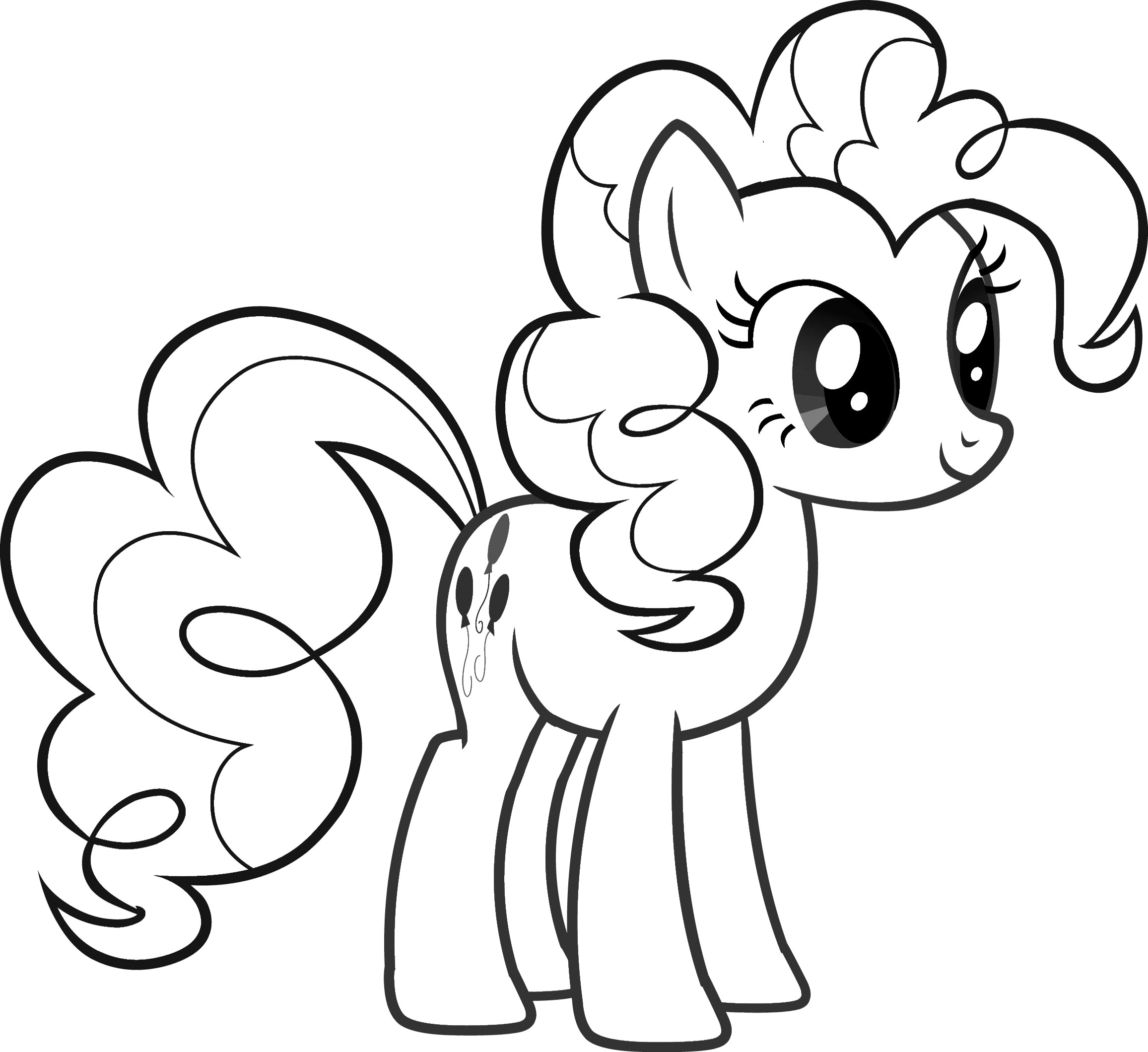 Drawn pony coloring book Pinkie Pinkie Lochy My Little