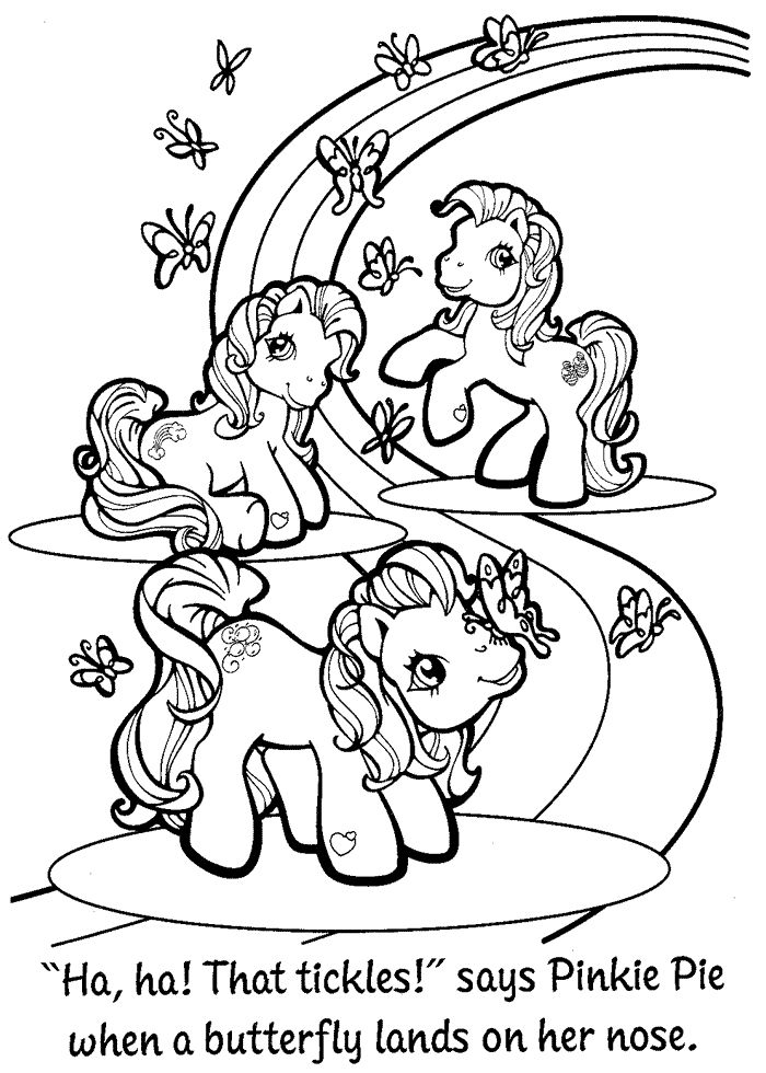 Drawn my little pony coloring book On images Nostalgia Little The