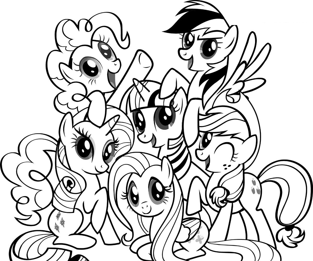 Drawn my little pony coloring book Pony Printable For Pony Free