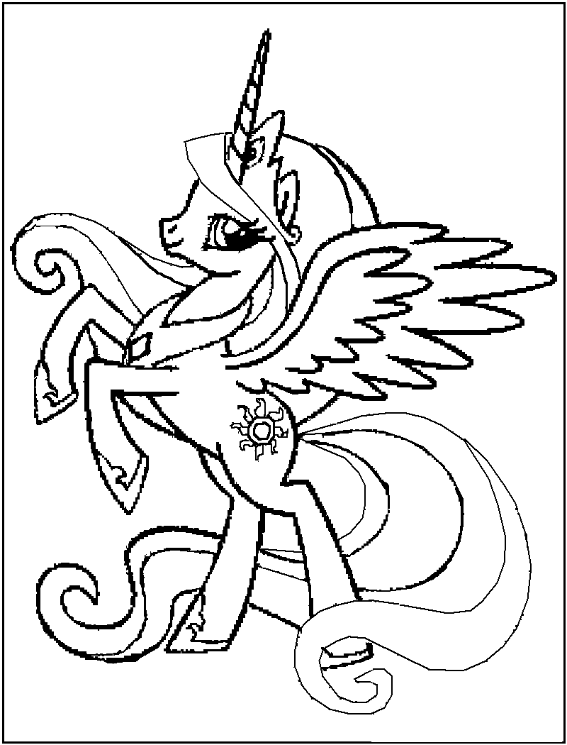 Drawn my little pony coloring book Pages Little Pages Coloring Pony