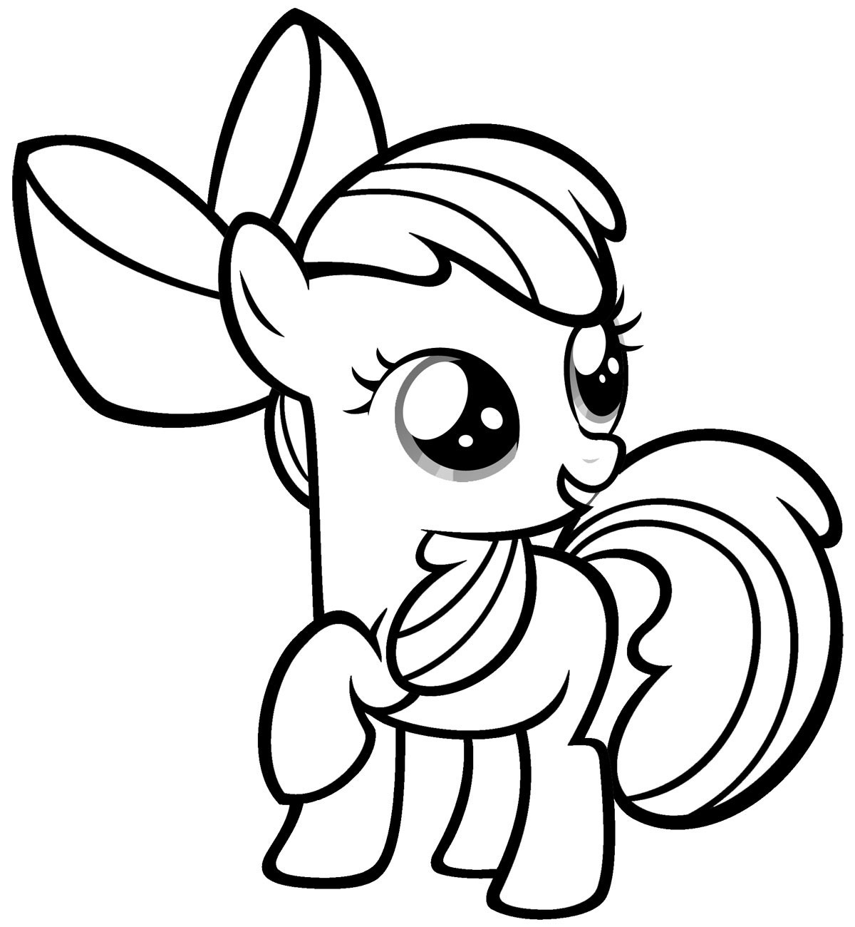 My Little Pony clipart printable coloring page Printable Pages Free Coloring My