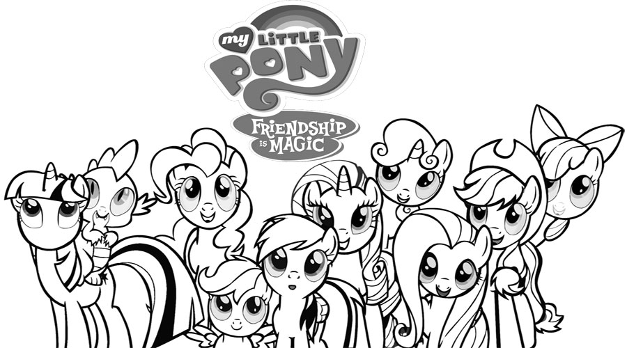 Drawn my little pony colouring picture My For coloring Kids for