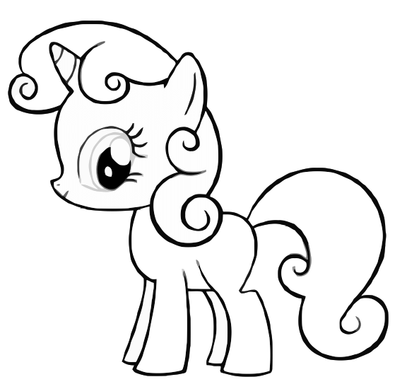 Drawn my little pony colouring picture Kids images Pages my Kids