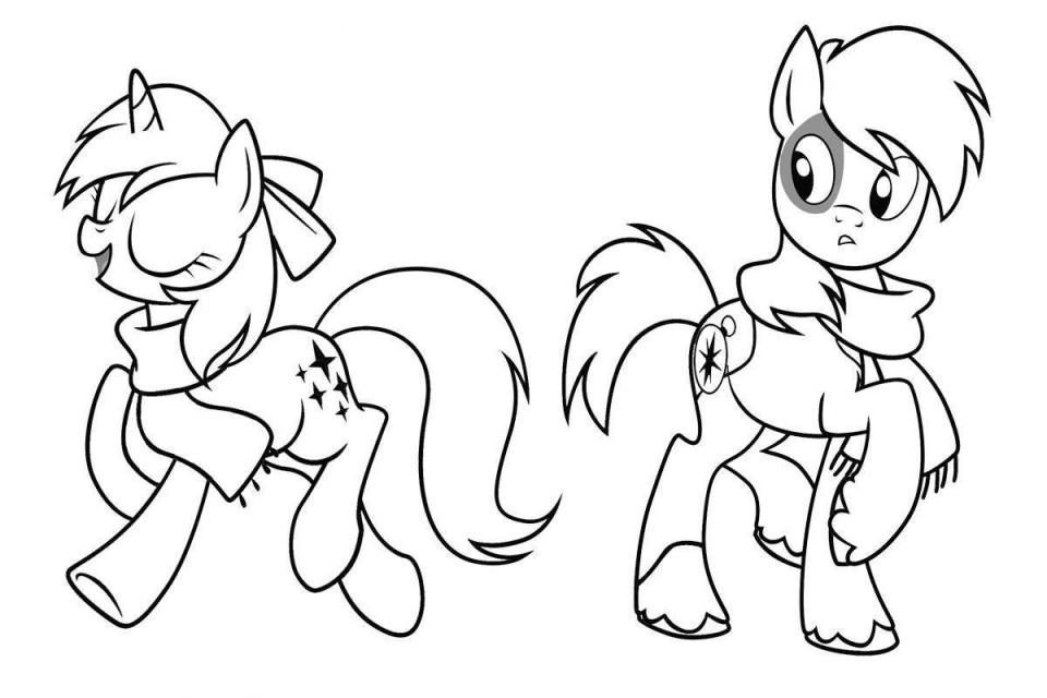 Drawn my little pony colouring picture For Coloring Coloring Kids My