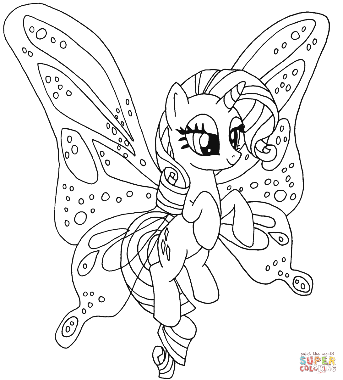 Drawn my little pony colouring picture Free Rainbow Pony Coloring Pages