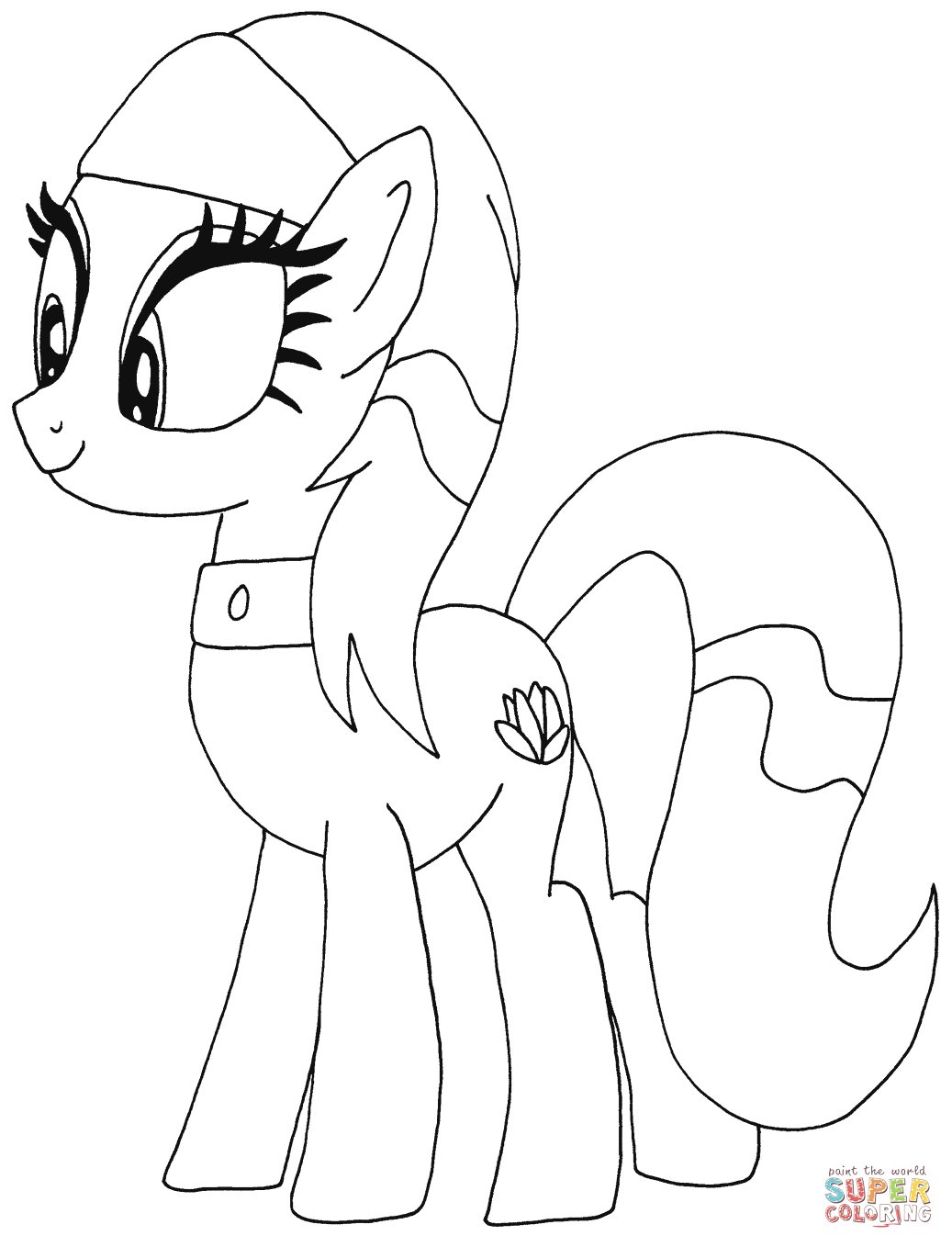 Drawn my little pony colouring picture Little coloring Lotus Free Pony