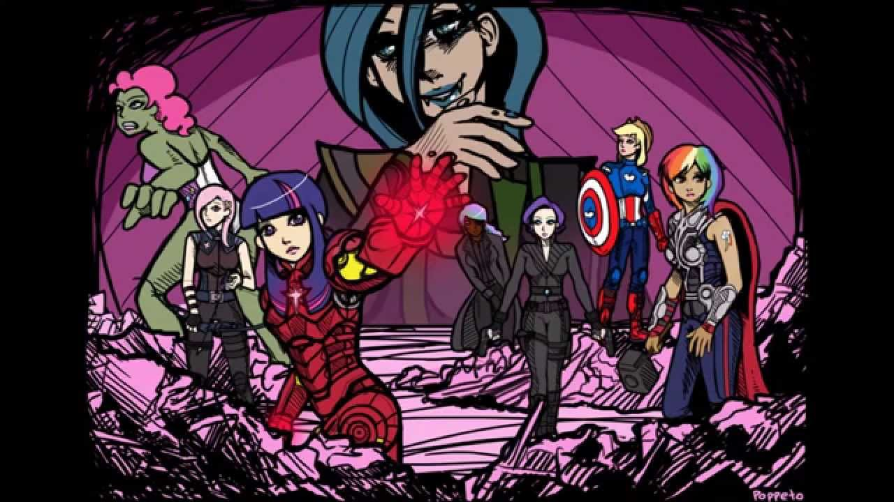 Drawn my little pony crossover Pony: Friendship Is Avengers Magic