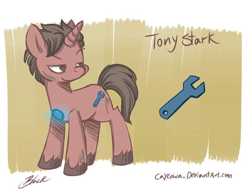 Drawn my little pony crossover By caycowa Crossover Stark DeviantArt