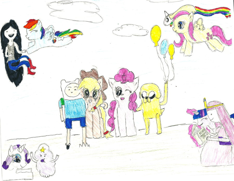 Drawn my little pony crossover My Little Little Crossover Crossover