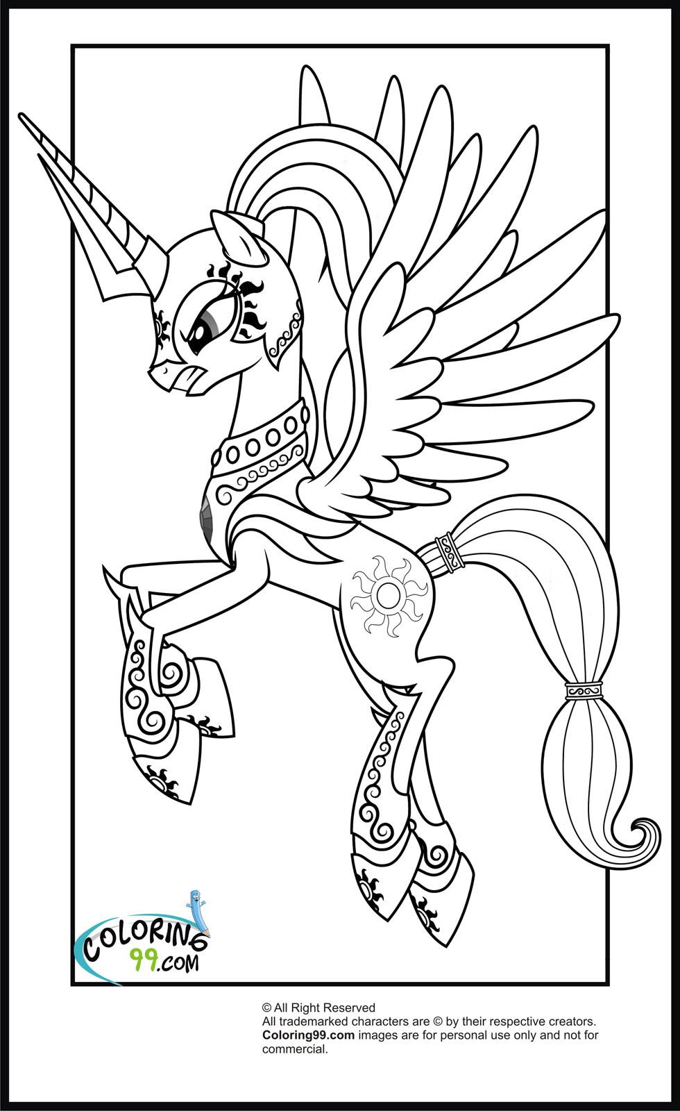 Drawn my little pony custom Coloring Pony My pony