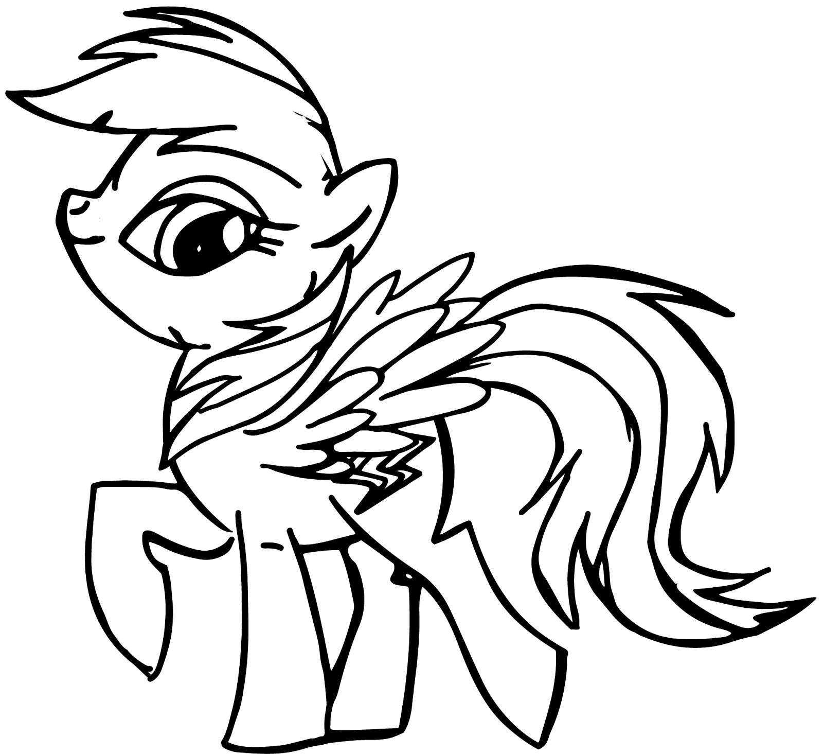 Drawn my little pony de mi Original coloring pata  colorear