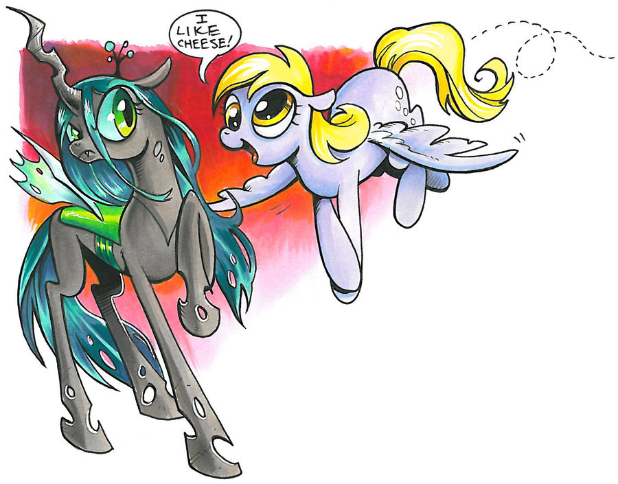 Drawn my little pony deviantart And little Derpy little and