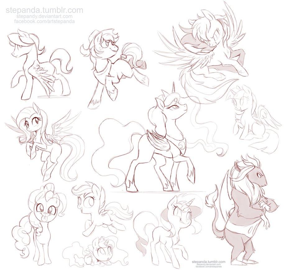 Drawn my little pony deviantart Little Sketches My Sketches Little