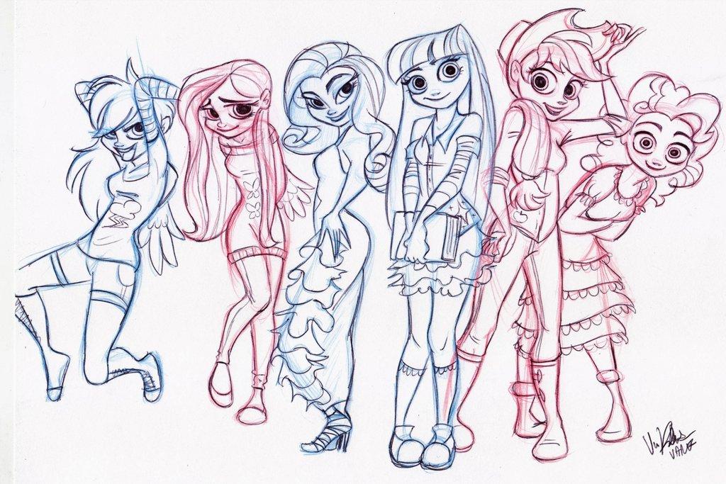 Drawn my little pony deviantart Humanized FIM zzaJ Pony My