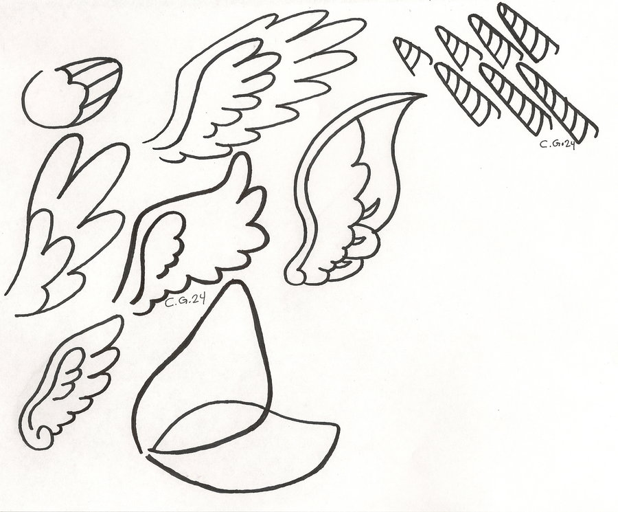 Drawn my little pony different Wings printing My Horn for