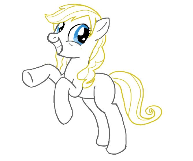 Drawn my little pony different – Caricature Hair pony Pony