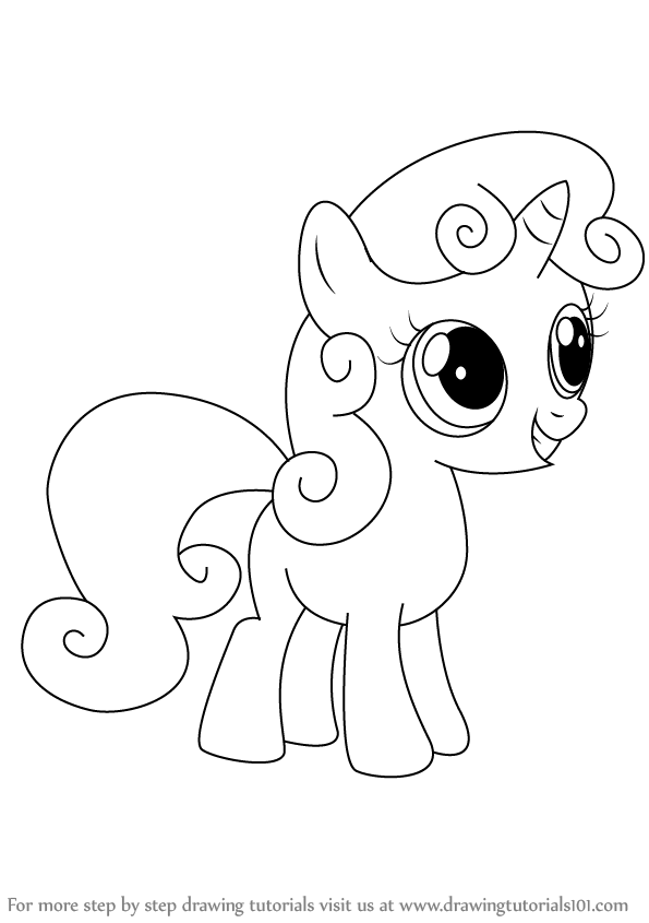 Drawn my little pony different Magic Sweetie Friendship Is Little