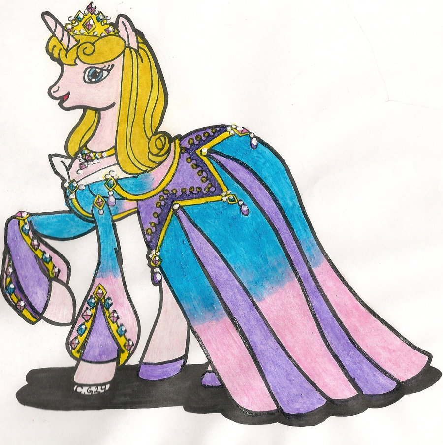 Drawn my little pony disney Aurora MLP:FiM by Princess Disney