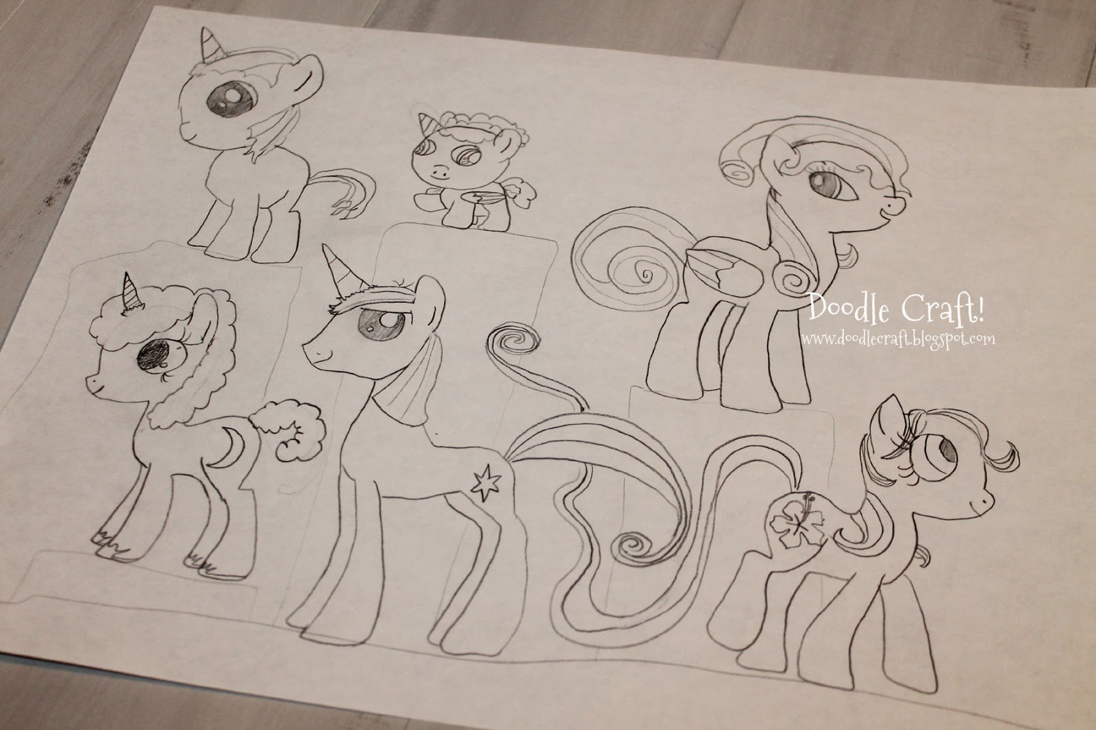 Drawn paper mlp Little  your own DRAW