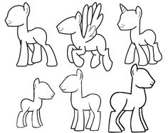 Drawn my little pony doodle Mlp and DRAW base unicorn