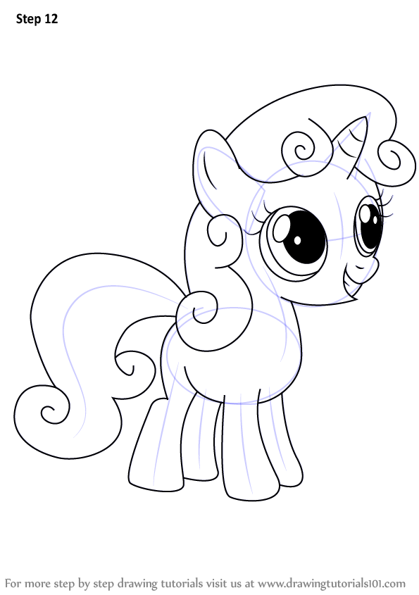 Drawn my little pony easy Drawing Sweetie  Make Pony: